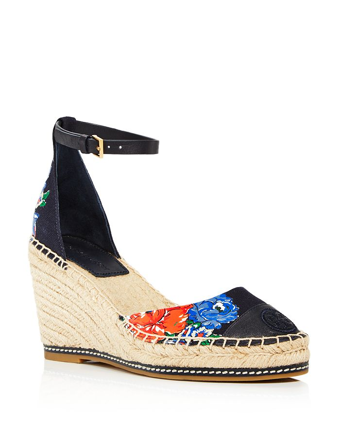 Tory Burch - Women's Color-Block Wedge-Heel Espadrille Pumps