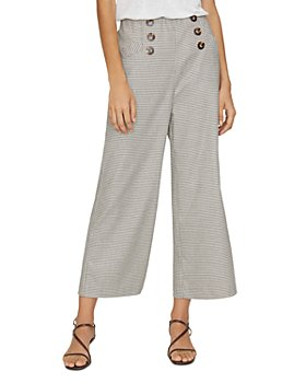 Sanctuary - Marina Button-Front Plaid Pants