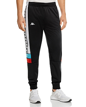 Kappa 222 Banda Memzz Color-Blocked Logo-Taped Track Pants
