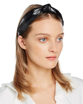 AQUA - Faux Leather Knot Headband - 100% Exclusive