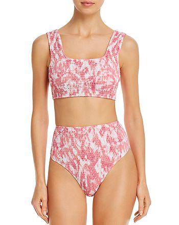 Faithfull the Brand - La Brie Smocked Bikini Top & La Brie Smocked Bikini Bottom