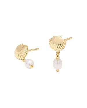 Gorjana Sea Shell Drop Earrings-Jewelry & Accessories