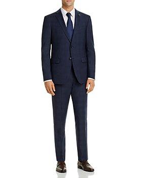 John Varvatos Star USA - Bleecker/Street Tonal-Plaid Slim Fit Suit Separates