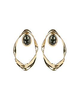 Alexis Bittar - Crumpled Orbit Stone Drop Earrings