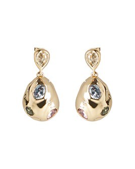 Alexis Bittar - Stone Studded Crumpled Drop Earrings