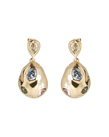Alexis Bittar - Stone Studded Crumpled Drop Earrings