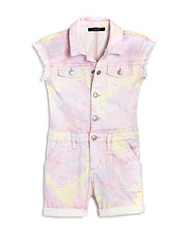 Joe's Jeans - Girls' Tie-Dyed Utility Romper, Big Kid - 100% Exclusive