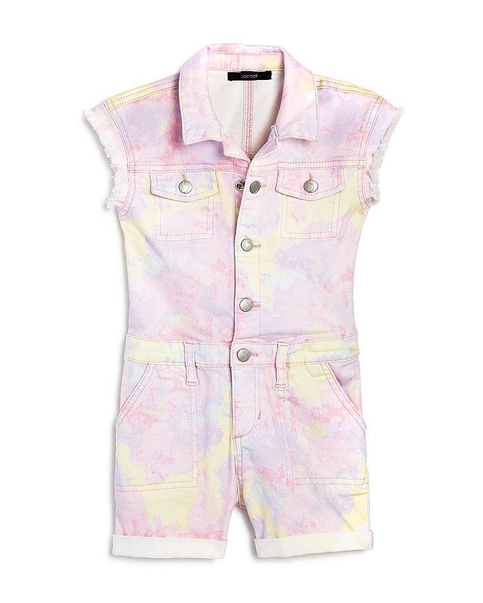 Joe's Jeans - Girls' Tie-Dyed Utility Romper, Little Kid - 100% Exclusive