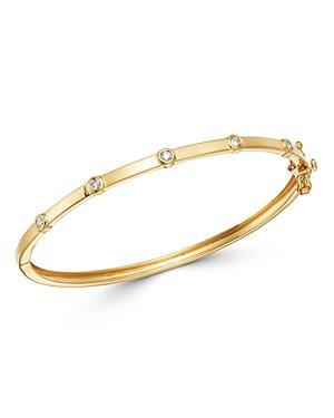 Bloomingdale's Diamond Bezel Set Bangle Bracelet in 14K Yellow Gold, 0.20 ct. t.w. - 100% Exclusive
