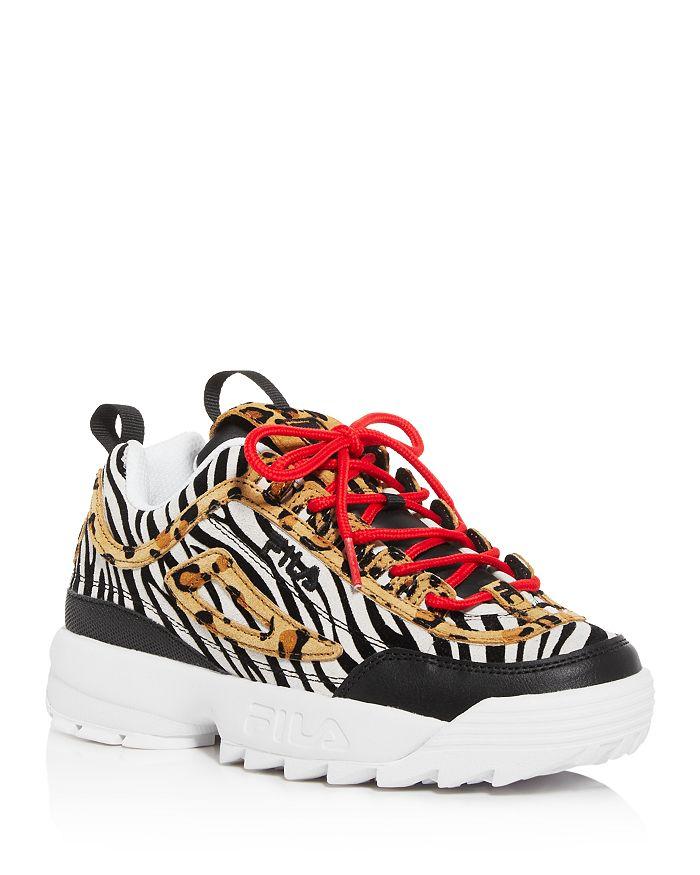 FILA - Women's Disruptor II Animal Low-Top Platform Sneakers