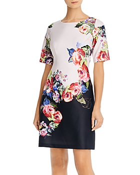 Adrianna Papell - Rose-Print Sheath Dress