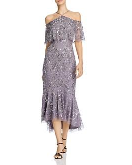 Aidan Mattox - Embellished Cold-Shoulder Flounce Dress- 100% Exclusive