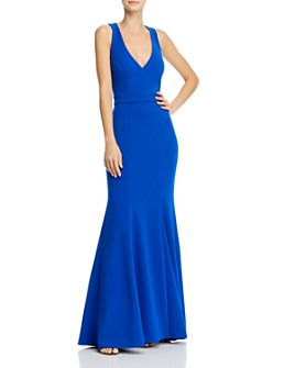 AQUA - Crepe Bow-Back Gown - 100% Exclusive