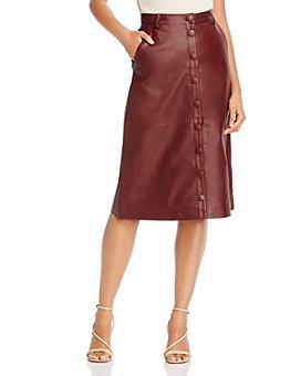 REMAIN - Birger Christensen Bellis Leather A-Line Skirt