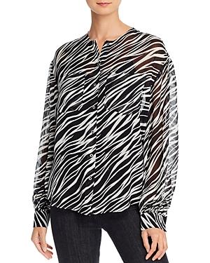Anine Bing Arrow Silk Sheer Utility Shirt