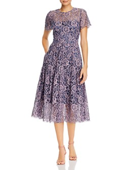 Eliza J - Lace Fit-and-Flare Midi Dress