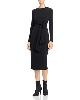 Alice and Olivia - Delora Tie-Waist Midi Dress