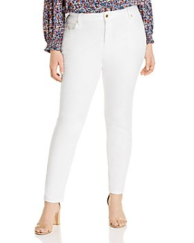 MICHAEL Michael Kors Plus - Super-Stretch Jeans in White