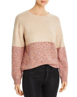 cupcakes and cashmere - Carmel Color-Blocked Sweater