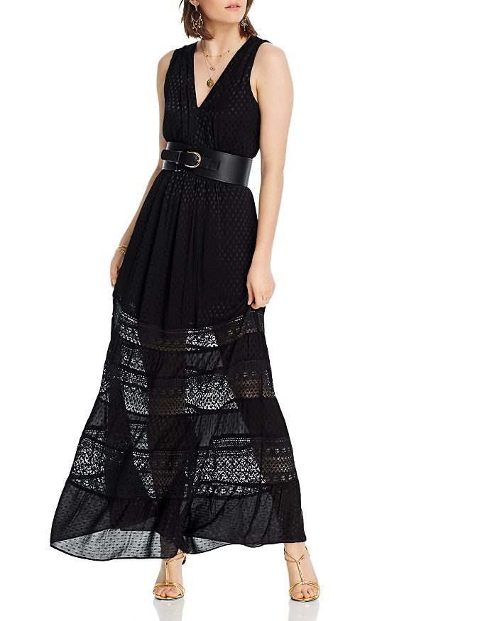 Lini Gabriella Tiered Empire-waist Dress - 100% Exclusive In Black