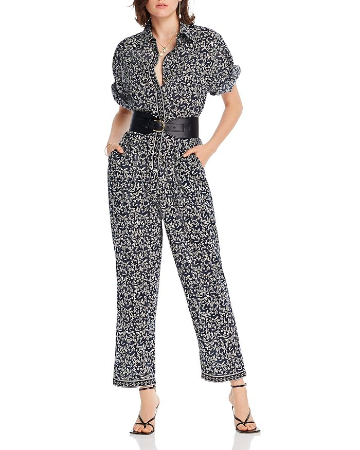 Lini Thea Printed Jumpsuit - 100% Exclusive In Navy/white