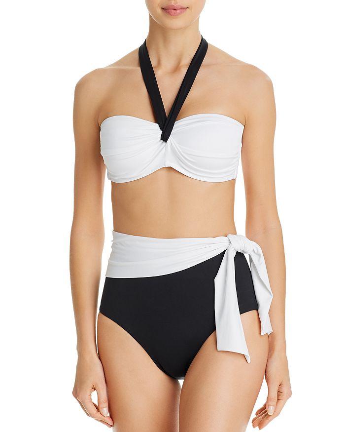 Ralph Lauren - Bel Aire Bandeau Bikini Top & High-Waist Bikini Bottom