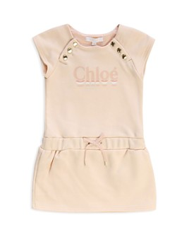 Chloé - Girls' Logo Button-Trim Dress - Baby