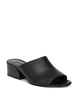 Vince - Women's Jestin Tortoise-Print Block-Heel Slide Sandals