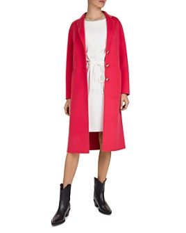 Gerard Darel - Button-Front Long Double-Face Wool Coat