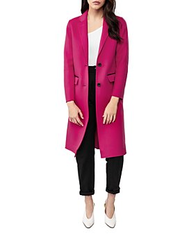 Mackage - Leather-Trim Two-Button Coat