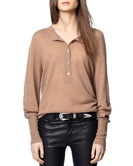 Zadig & Voltaire - Button-Up Cashmere Sweater