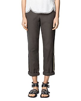 Zadig & Voltaire - Striped Cotton Straight-Leg Pants