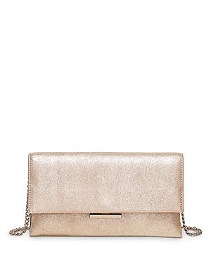 Tab Convertible Leather Clutch