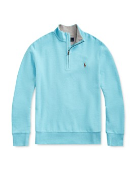 Ralph Lauren - Boys' Cotton Mesh Half-Zip Sweater - Big Kid