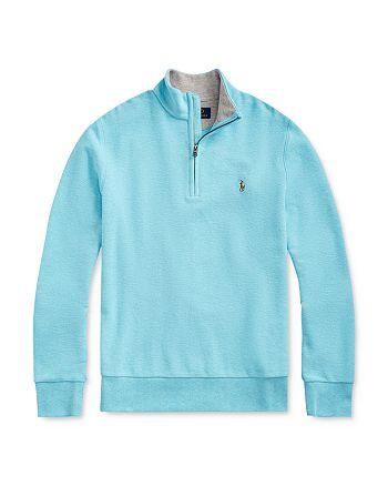 Ralph Lauren - Boys' Cotton Mesh Half-Zip Sweater - Big Kid