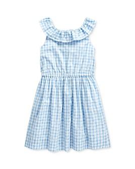 Ralph Lauren - Girls' Gingham Poplin Dress - Little Kid