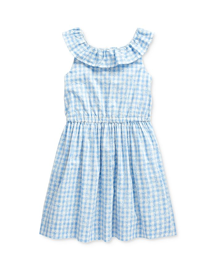 Ralph Lauren - Girls' Gingham Poplin Dress - Little Kid