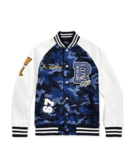 Ralph Lauren - Boys' Camo Letterman Jacket - Big Kid