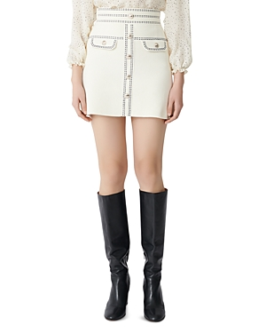 Maje Jisla Knit Mini Skirt-Women
