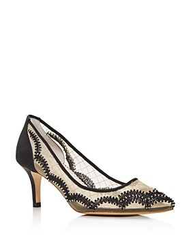 Bella Belle - Women's Nicole Embellished Mid-Heel Pumps