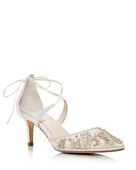 Bella Belle - Women's Frances Embellished Kitten-Heel Pumps