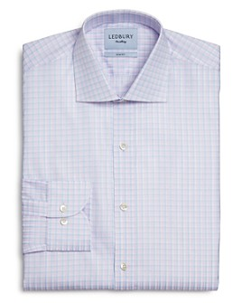 Ledbury - Cloverly Cotton Check Slim Fit Dress Shirt