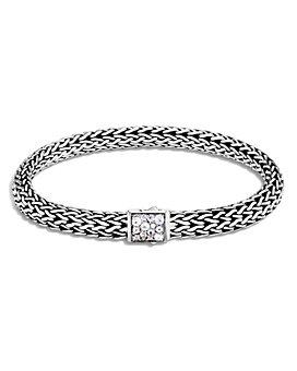 JOHN HARDY - Sterling Silver Classic Chain Black Sapphire & Moonstone Reversible Bracelet