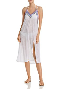 Pitusa - Crochet-Trim Midi Swim Cover-Up