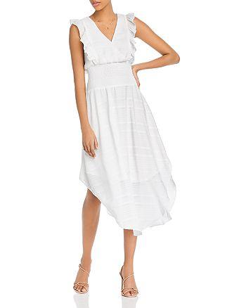 AQUA - Smocked-Waist Midi Dress - 100% Exclusive