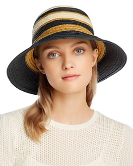 Echo - Striped Tall Cloche Hat