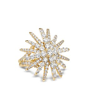 David Yurman - Pavé Diamond Starburst Statement Ring in 18K Yellow Gold