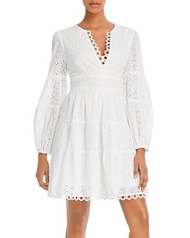 Lost and Wander - Amelia Eyelet Mini Dress