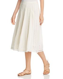 Ralph Lauren - Eyelet-Trim A-Line Skirt