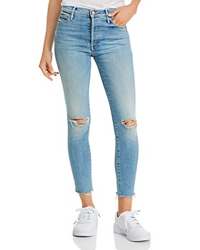 MOTHER - The Stunner Ripped Skinny Ankle Jeans in Hit The Jackpot